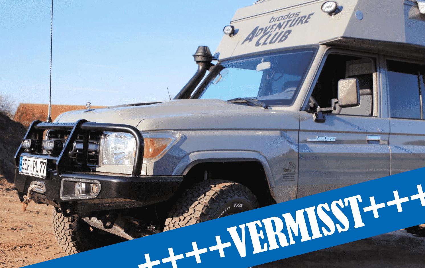 Suche nach unserem Adventure Fahrzeug