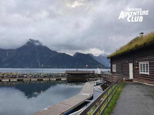 Aussicht auf den Fjord in Sæbø